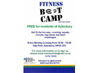 FREE fitness bootcamp sessions for residents of Aylesbury! Every Monday. 7pm.