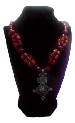 Handmade  African Berber Moroccan Coral Necklace