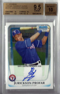 JURICKSON PROFAR 2011 BOWMAN CHROME PROSPECT AUTO ROOKIE RC!! BGS GEM MINT 9.5!!