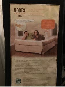 Roots Deluxe Portable Bed with Memory Foam