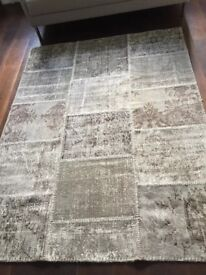 Vintage Turkish Rug 100% Wool (rtp: £1380) 200x150cm (w Certificate Of Authenticity)
