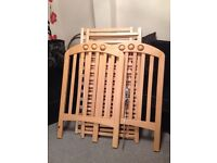 Mamas & Papas Amelia Wooden Cot / Crib in Beech - in Good Condition
