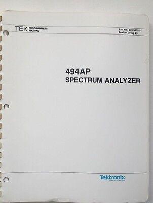Tektronix 494ap Spectrum Analyzer Programmers Manual Pn 070-5559-01