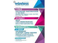 1x Wireless Ticket Friday 6th July.