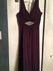Dark Purple Floor Length Dress