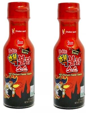 2 X SAMYANG Buldak Sauce Spicy EXTREME Chicken Fire Noodles Hot Sauce 200g  RE