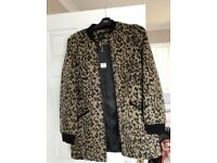 New Next leopard print coat