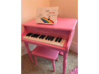 Kids grand piano Pink wooden toys musical instruments