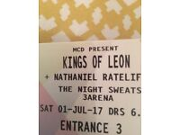 2x Kings of Leon 1st July - Standing tickets