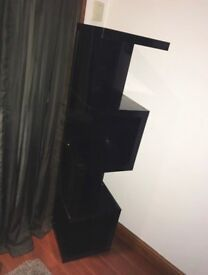 Next high gloss zig zag standing shelf