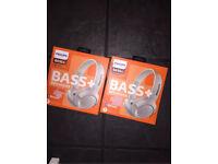 Philips SHB3075 Wireless On-Ear Headphones - White (READ DESCRIPTION)