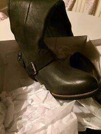 New size 5 Dark grey Cara London boots RRP £155