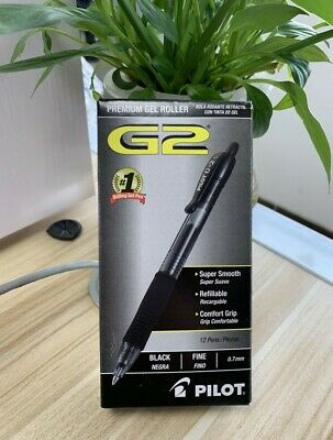 Pilot G2 Premium Refillable Retractable Rolling Ball Gel Pens Fine Point