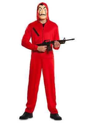 nzkostüm für Erwachsene La Casa de Papel Bankräuber-Kostüm r (Bankräuber Kostüme)