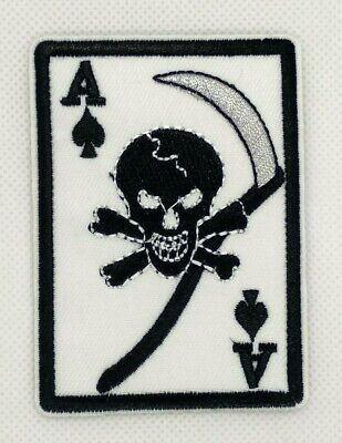 poker pirate Ace of Hearts  iron-on patch PLAYING CARD embroidered emblem - Ace Of Hearts Card