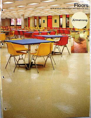 1979 Armstrong Flooring Catalog Vinyl Excelon Tile Asbestos Dust Warning