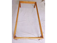 """Single Wooden Bed Frame 3'0"""" X 6'3"""" With Head Board"""