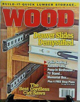 Wood May 2016 Drawer Slides Demystified Best Cordless Circ Saws FREE SHIPPING