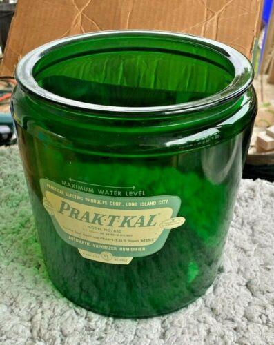 Vtg PRAK-T-KAL Vaporizer Humidifier Model 650 Green glass bowl only