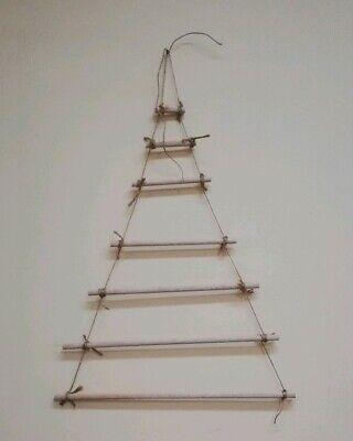 Albero di Natale in Legno da Parete artigianale 60 cm