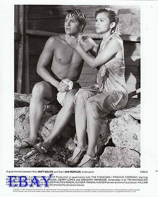 Matt Adler barechested VINTAGE Photo Nia Peoples leggy North Shore