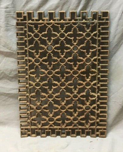 Antique Cold Air Return Cast Iron Gothic Design Grate 21x15 291-19L