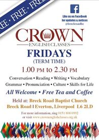 FREE English Classes-- All Welcome!