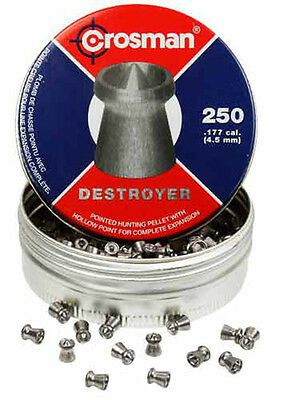 TWO of Crosman .177 DESTROYER POINTED HOLLOW POINT HUNTING PELLETS for 500 TOTAL