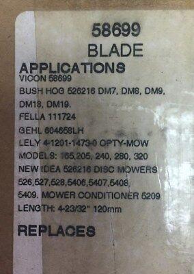 58699 Vicon Bush Hog Blades Lot Of 25