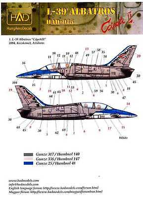 Hungarian Aero Decals 1/48 L-39 ALBATROSS CAPETI II 2004 Kecskemet Airshow for sale  USA