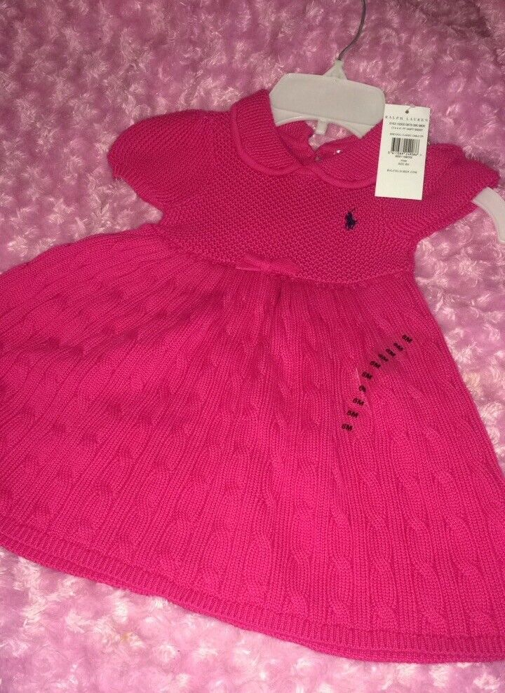 Brand new with tags 6m Ralph Lauren knitted dress