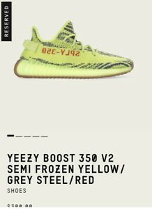 Adidas Yeezys 350 v2 frozen yellow size 11.5 men's brand new