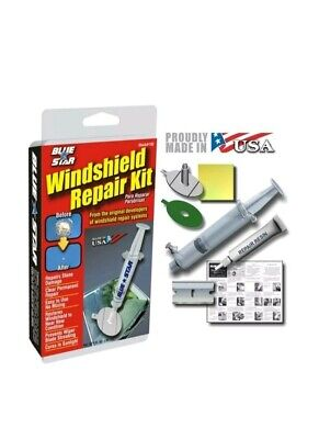 WINDSHIELD REPAIR KIT BLUE-STAR DO IT YOURSELF A STONE CHIP FIX DAMAGE GLASS DIY