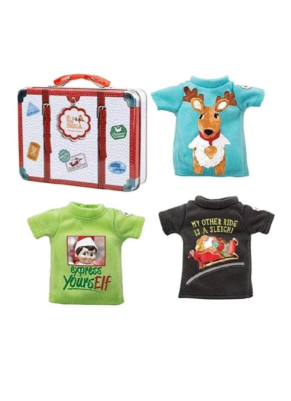 The Elf on the Shelf Clothing Set - 3 Tshirt Value Pack and Carrying Case - Tees