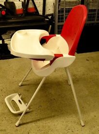 childs high chair with foot rest.