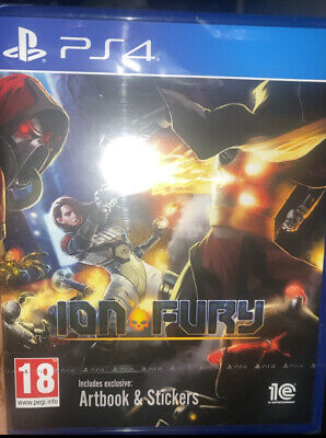 Ion Fury PS4 DUKE NUKEM 3D STYLE GAME INC ARTBOOK AND STICKERS
