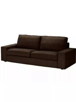 Ikea Kivik 3 Seat Sofa Cover ONLY Tullinge Dark Brown Authentic 002.003.58