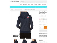 Women's Superdry Storm Hood Hoodie/Fleece Large
