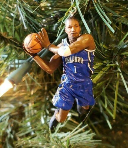 Tracy McGrady Orlando Magic NBA Ornament Basketball Xmas Holiday Blue Jersey #1