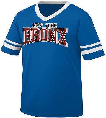 - Bronx New York City Borough NYC South Boogie Down Tale Men's V-Neck Ringer Tee
