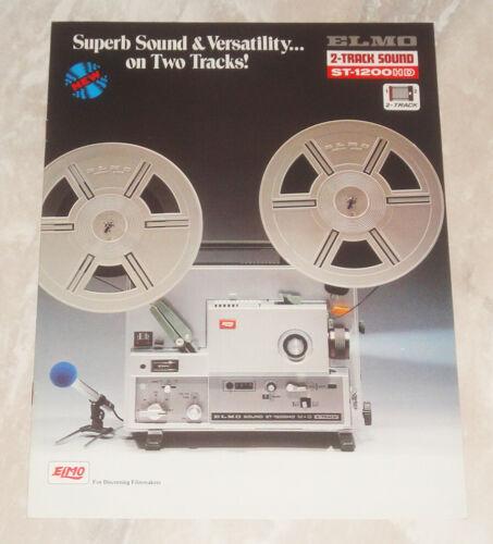 Rare Elmo ST-1200HD Super 8 Sound Projector Sales Brochure Japan 8mm Movie Mint