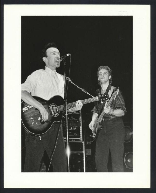 1980s ADAM CLAYTON & THE EDGE of U2 on Stage Vintage Original Photo U2 gp