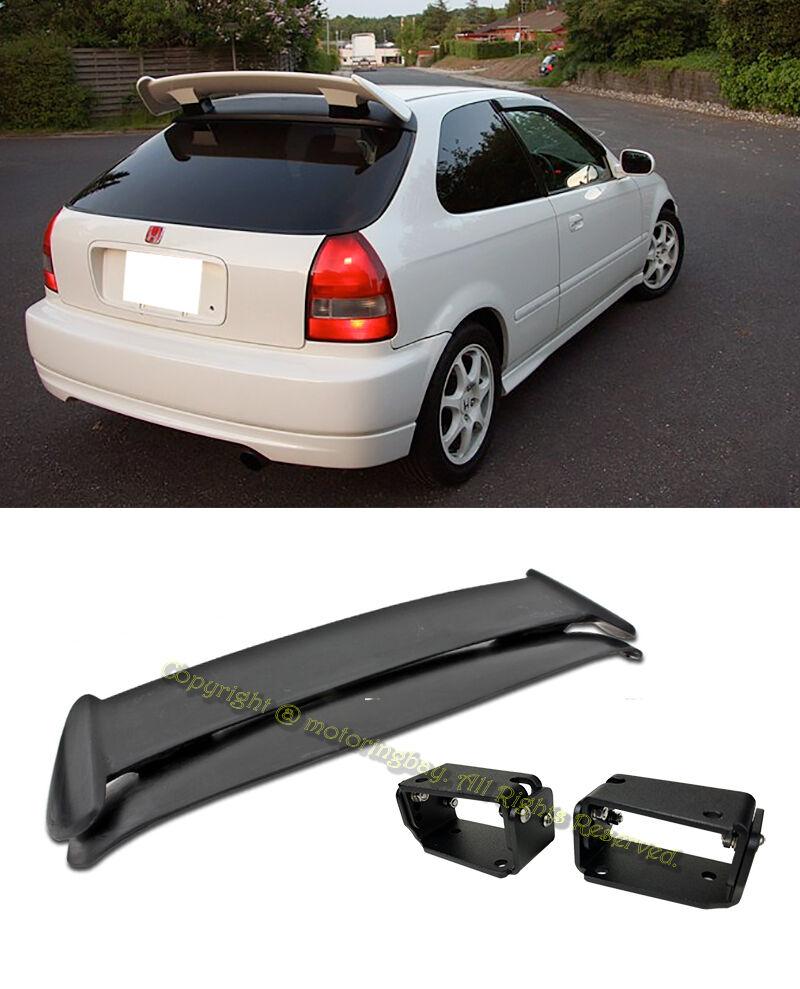 For 96-00 Civic 3DR Type R Rear Spoiler w// Adjustable Black Alex Tilt Brackets