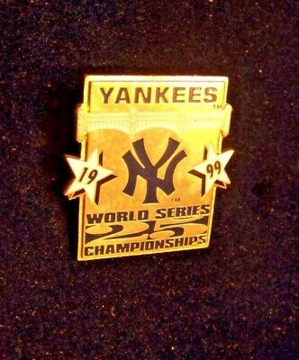 1999 NY New York Yankees WS 25 World Series Championships pin overall (New York Yankees World Series Championships 1999)
