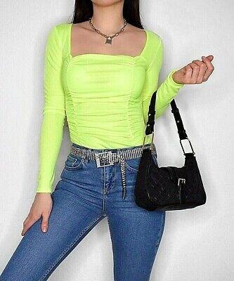 BOOHOO ASOS Damen Top Bodysuit Frühling Sommer Lime - Grünen Bodysuit