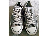 Men's Size 9 Grey Trainers By Converse - Good Condition