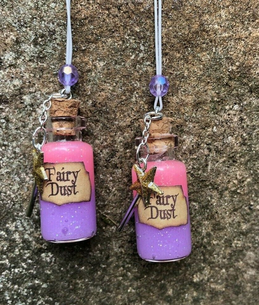 Purple/pink Fairy Dust Necklace /Fish Extender Gift / Disney