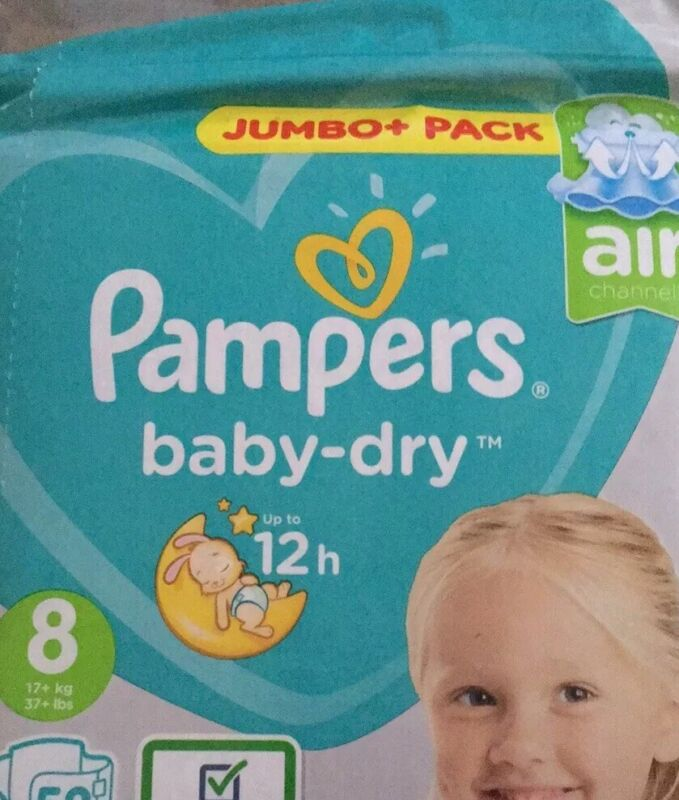 Pampers Baby Dry Size 8 - Sample Pack of 6