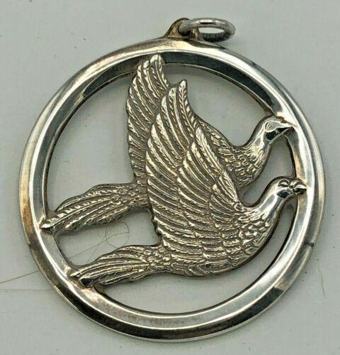 Wallace 1976 Annual Peace Dove Ornament Sterling Ornament, no box
