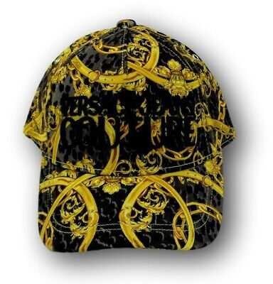 VERSACE JEANS COUTURE baroque-print branded cap new with tag uni size  italy